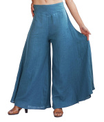 Wicky LS Ladies Yoga Lounge Pants Cotton Wide Leg Strench Wasit Trousers