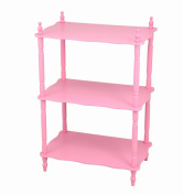 Frenchi Home Furnishing Kid's 3-Tier Shelves, Pink
