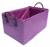 Neon Bright Colours Kids Playroom Toys Kitchen Cupboard Storage Basket + Handle Hamper basket