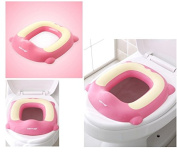 Potty Training Seat Toddler Toilet Seat for Boys & Girls | Baby Potty Ring Adaptor Secure Non-Slip Surface| Toilet Training PINK