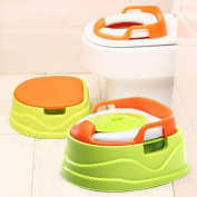 """Children Toddler Kids 4-in-1 Soft Secure Non-slip Comfortable Seat Sink Chair Toilet Trainer Baby Potty with Step Stool and Seat """"4-In-1 Soft Seat Toilet Trainer and Step Stool Keller Potty"""""""