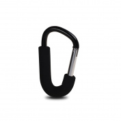 Bebamour Large Strong Buggy Clips for Changing Bag Stroll Hook Handy Pram Hook for Nappy Bag, 14CM
