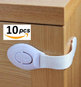 Multi Use Latches,Warmword Cabinet Locks & Straps Safety Latches,Pack of 10