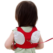 JUNGEN Anti-lost Safety Harnesses Backpack Toddler Backpack for Walking Safety with Traction Rope Angel Wings