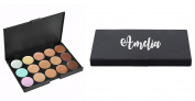 Personalised makeup Concealer Palette ANY NAME 15 Colour Palette Beauty Kit Face Makeup Contour Cream Beauty Present Gift Christmas
