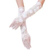 Elegant Wedding Flower Lace Gloves Bride Party Dress Lace Gloves