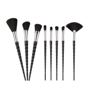 King Love Star Unicorn Makeup Brushes 8 PCS Black Hair Unicorn Make Up Brushes Beauty Cosmetics Foundation Blending Blush Brush Kits