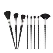 King Love Star Unicorn Makeup Brushes 8 PCS Black Hair Unicorn Make Up Brushes Beauty Cosmetics Foundation Blending Blush Brush Kits