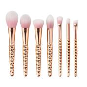 King Love Star 7 Pcs/Set Makeup Brushes Kits Professional Nylon Honeycomb Cosmetic Make Up Brush Foundation EyeFace Blush Brush Set Tools Kits + Free sponge puff