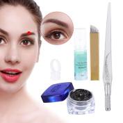 Microblading Pen, ZJchao Permanent Makeup Eyebrow Pen Machine kit Professional 3D Tattoo Manual Pen with Needles Set of 5