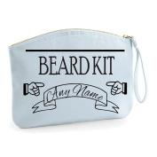Personalised Beard Kit Vintage Style Grooming Statement Make Up Bag - Cosmetic Canvas Case