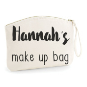 Personalised Any Name's Make Up Bag Make Up Statement Make Up Bag - Cosmetic Canvas Case