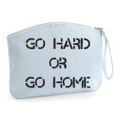 Go Hard Or Go Home Make Up Statement Make Up Bag - Cosmetic Canvas Case