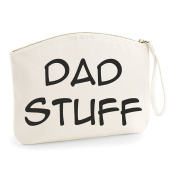 Dad Stuff Grooming Statement Make Up Bag - Cosmetic Canvas Case