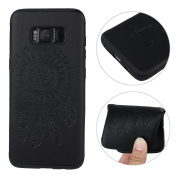 Galaxy S8 Case Silicone, S8 Back Cover, Moon mood [Dreamcatcher Embossed] Ultra Thin Slim Totem Soft Back Case for Samsung Galaxy S8 Protective Skin Rubber Gel TPU Bumper Cover Case for Samsung Galaxy S8 / SM-G9500 15cm