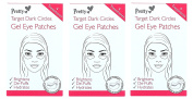 12 x Pretty Target Dark Circles Gel Eye Patches | 3 packs of 10cm each
