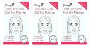 12 x Pretty Target Dark Circles Gel Eye Patches | 3 packs of 10cm each