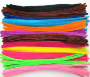 "Dandan DIY 120pcs 12colors 3mmx300mm(0.12""x12"") Assorted Colours Pipe Cleaners Chenille Stem for Pipe Cleaning or Kids Art Craft Diy Handmaking Supply"