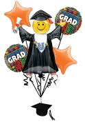 Veil Entertainment Bright Grad Congrats Graduation 7pc Balloon Pack, Orange
