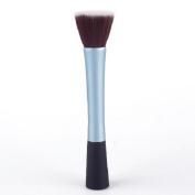 Pro Powder Makeup Cosmetic Stipple Foundation Blue Brush Tool 01