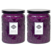 Aromatherapy Scented Candles - Beloved - Two 470ml Glass Mason Jar Candles with a 100 Hour Burn Time - A Great Gift and Beautiful Decor Piece!