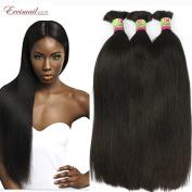 Eecamail Hair 100% Unprocessed Brazilian virgin Straight Hair Human Hair for Braiding Bulk No Attachment 4 bundles Natural Colour Mix Length 10 10 10 25cm