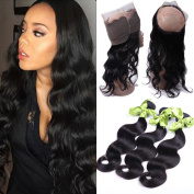 IUEENLY Pre Plucked 360 Lace Frontal Closure Brazilian Virgin Hair Body Wave Human Hair Lace Band Frontal Closure With Baby Hair Natural Colour