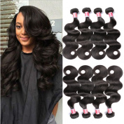 Beauty Princess Brazilian Vigin Hair Body Wave 4 Bundles 100% Unprocessed Human Hair Weave Extension Natural Colour