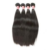 Pizazz Brazilian Virgin Hair Straight Human Hair Extension 4 Bundles Grade 7A Unprocessed Brazilian Hair Weave Bundles Natural Colour