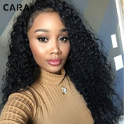 CARA hair 360 Lace Frontal Wigs Brazilian Virgin Hair 180% Density deep wave Lace Front Human Hair Wigs For Black Women
