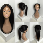 V'NICE Silky Straight Virgin Brazilian Human Hair Lace Front Wigs with Baby Hair Natural Colour Human Hair Full Lace Wigs For Women
