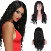 Superwigy Brazilian Virgin Human hair wig Long Nature Black Water Wave with Baby Hair Full Lace Wig and Lace Front Wig for Choose