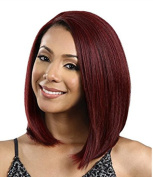 MOCOO Short Synthetic Straight Wigs Natural Looking Hair Wig for Women with Wig Cap (Wine Red) JF060