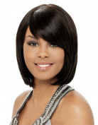 MOCOO Women's Short Straight Hair Synthetic Cosplay Wigs Natural as Real Hair with Wig Cap (Black) JF059