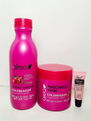 """Alea Coloured Hair Shampoo 500 Ml and Mask 400 Ml with Pomegranate Extract """"Free Starry Lipgloss 10 Ml"""""""