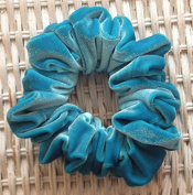 Solid Turquoise Velvet Scrunchy-Full