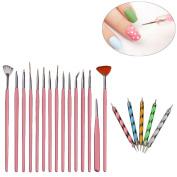 Willtoo hot sell 20PCS Nail Art Design Dotting Painting Drawing Polish Brush Pen Tools