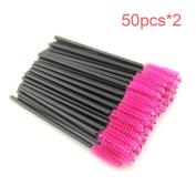 100pcs/lot New make up brush synthetic fibre Disposable Eyelash Brush Mascara Applicator Wand Brush Cosmetic Makeup Tool
