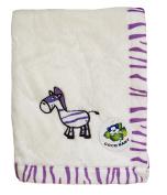 Flush Beige PV Baby Blanket, Zebra Design