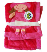 Plush Red PV 3D Baby Girl Blanket