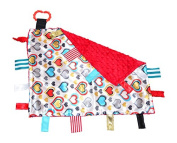 Lovey Heart Warrior CHD Awareness Comfort Securirty Tag Blanket