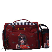 Colourful Print Convertible Multiple Compartment Baby Nappy Bag with Detachable Backpack Straps [Judith Loves Flower]