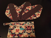 Morxy Large Bamboo Charcoal Reusable Menstrual Cloth Pads ( pack of 3)- Heavy Flow Overnight