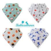 BabiesAmour Baby Bandana Bib for Drooling, Super absorbent and Soft, Gift Set of Boys