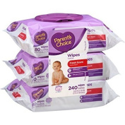 Parent's Choice Fresh Scent Baby Wipes, 80 sheets, 3 count by Parent's Choice