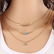 Multi Tier Street Shot Chain Chain Of The Eyes Of Women Short Necklace