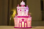 Amazlab Cute Castle Nursery Lamp Girls' Room Decorations