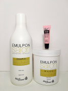 "Helen Seward Emulpon Salon Nourishing Cosmetic Shampoo and Mask Shea Butter 33.8 Oz ""Receive Starry Lipgloss 10 Ml"""