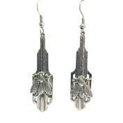 Bee Earrings Honey Bee Art Deco Dangle Earrings by MyElegantThings