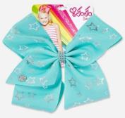 JoJo Siwa Large Mint with Silver Stars Signature Hair Bow